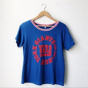 Junk Food | Red White & Blue NY Giants Graphic Tee